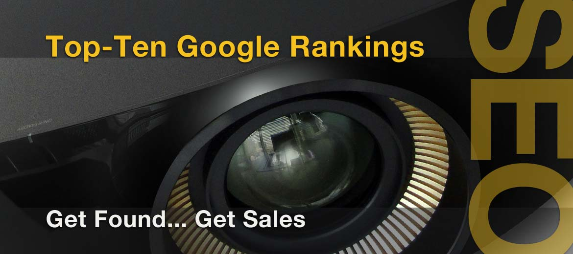 Audio Video Dealer increased ranking in Google Top Ten to increase website traffic